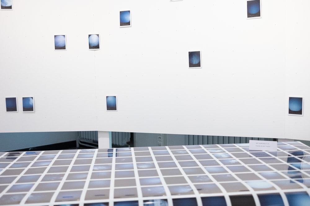 The Blue Skies Project (detail)– installatie als work-in-progress in Z33 (2018)