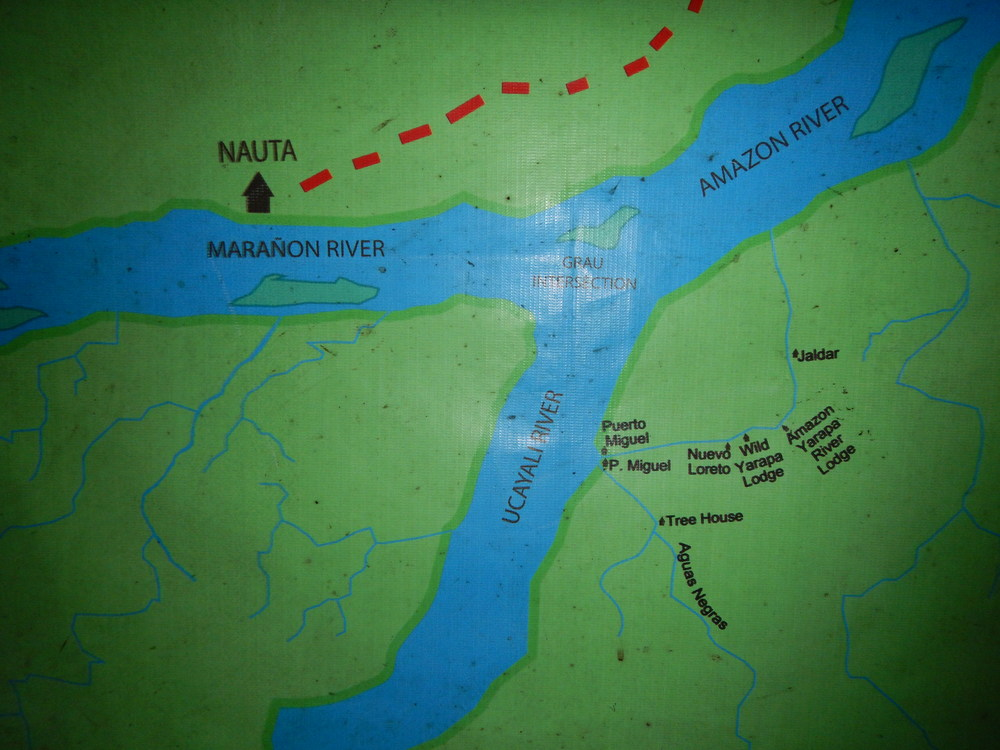 Map of our location.  We took a boat from Nauta to the lodge.