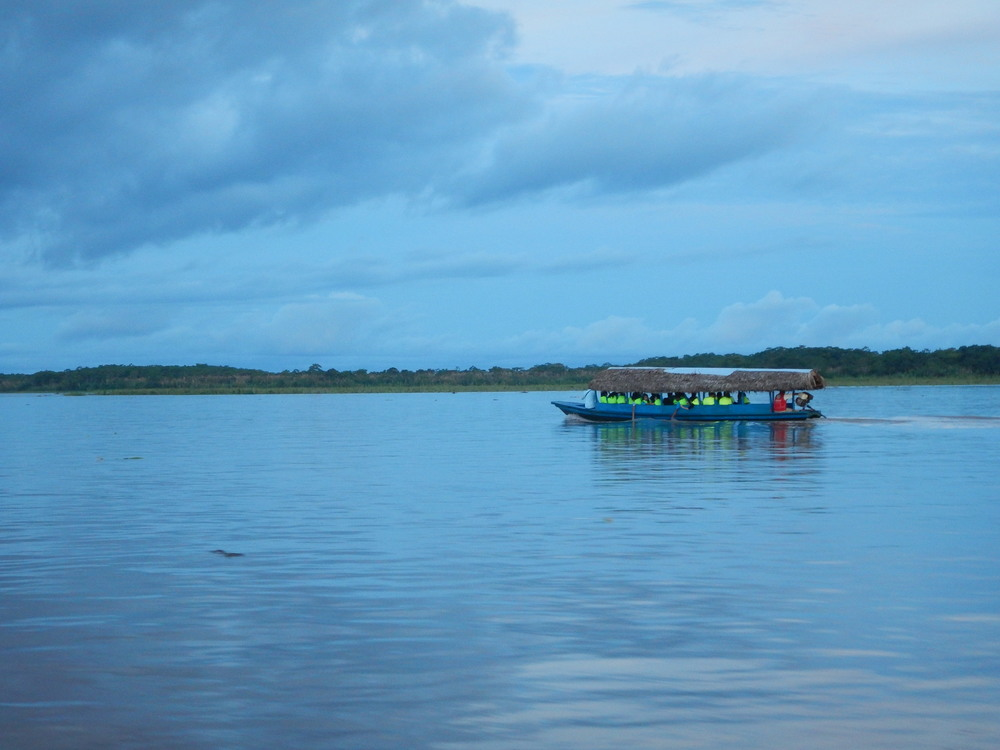 On our way to the lodge along the Amazon River