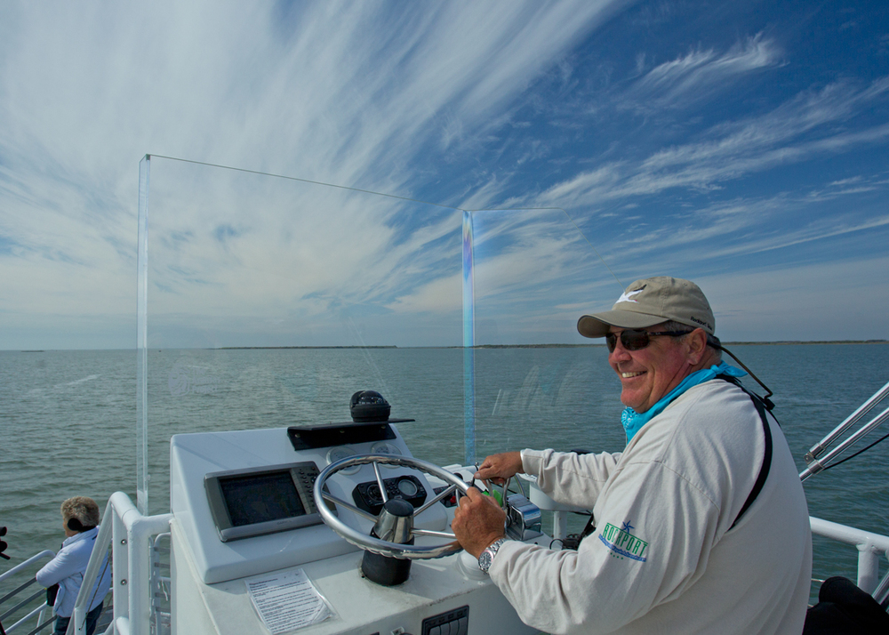Captain Tommy Moore on board 'Skimmer'