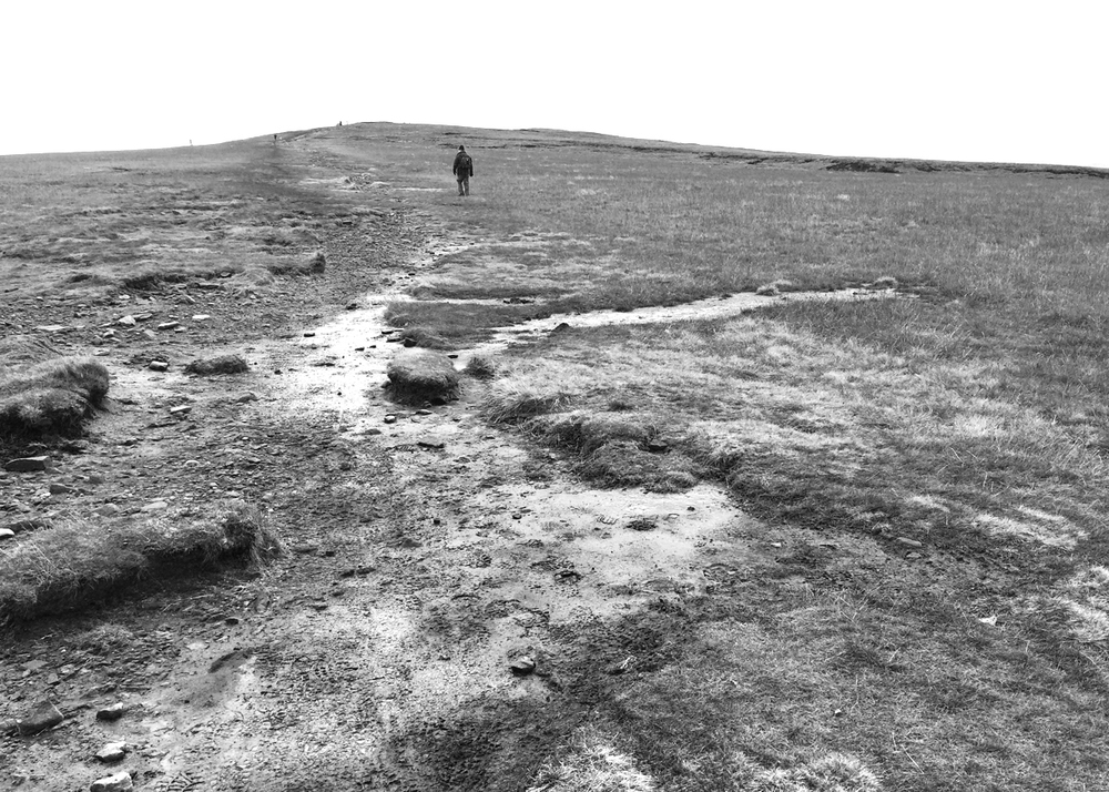 Mark Varley on a very bleak Pendle Hill