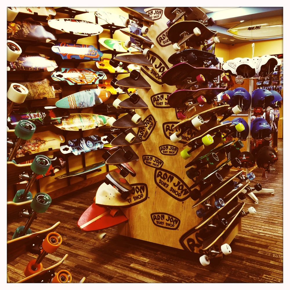 Skater's paradise at Ron Jon's (IPhone 5S Hipstamatic).