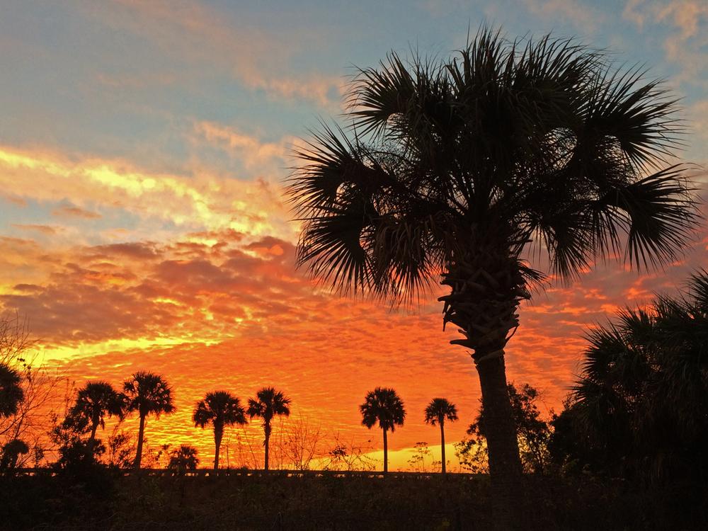 Titusville FL sunrise, Jan 2014