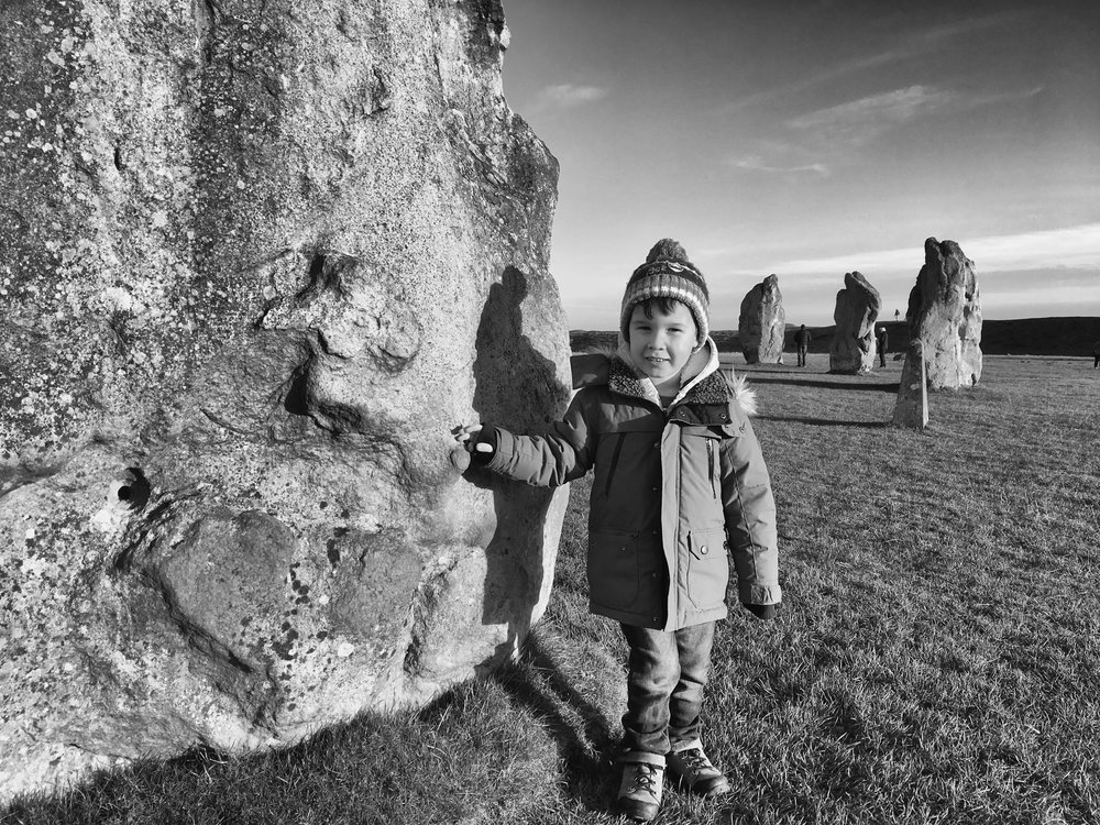 Alexander at Avebury Ring.