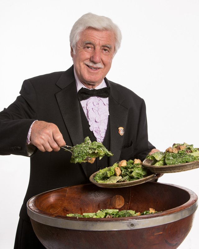 Alfio and his Caesar salad.