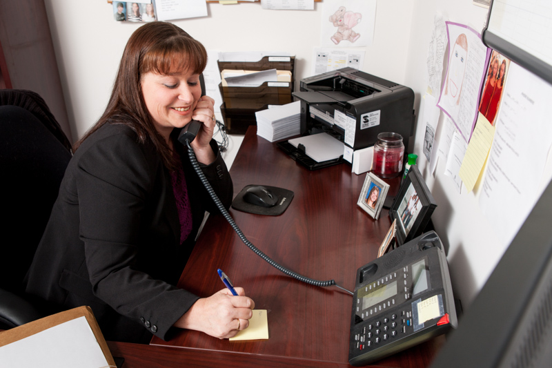 Let your clients put a face to the voice on the telephone.