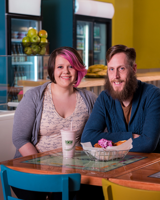 Kristin and Scott, owners of Breezy's Cafe