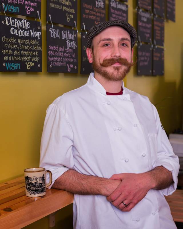 Fred Muser, cook at Breezy's Cafe