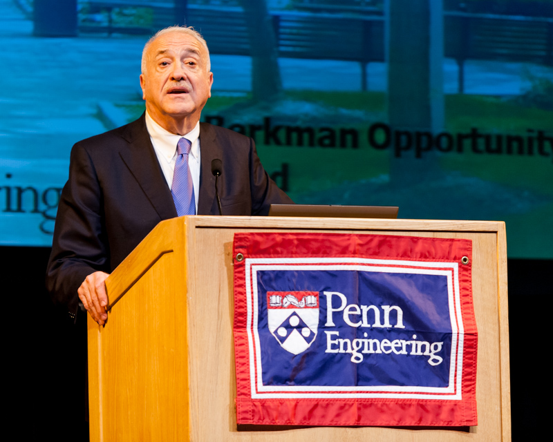Dean Eduardo Glandt welcomes students, family members, and faculty to Penn Engineering's awards ceremony.