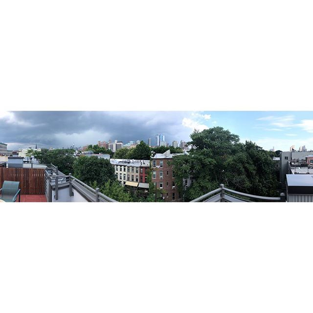 Call me Stormy Nicks ⚡️⚡️#brooklyn #storm #summer #panorama