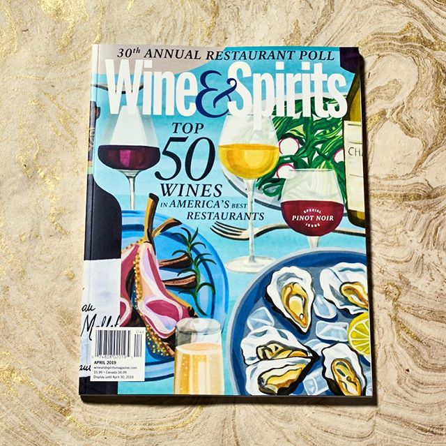 Little bit of new design and art direction work from yours truly for @wineandspirits magazine. The April issue features a deliciously painted illustration by @fannygentle on the cover. 🍷🥂