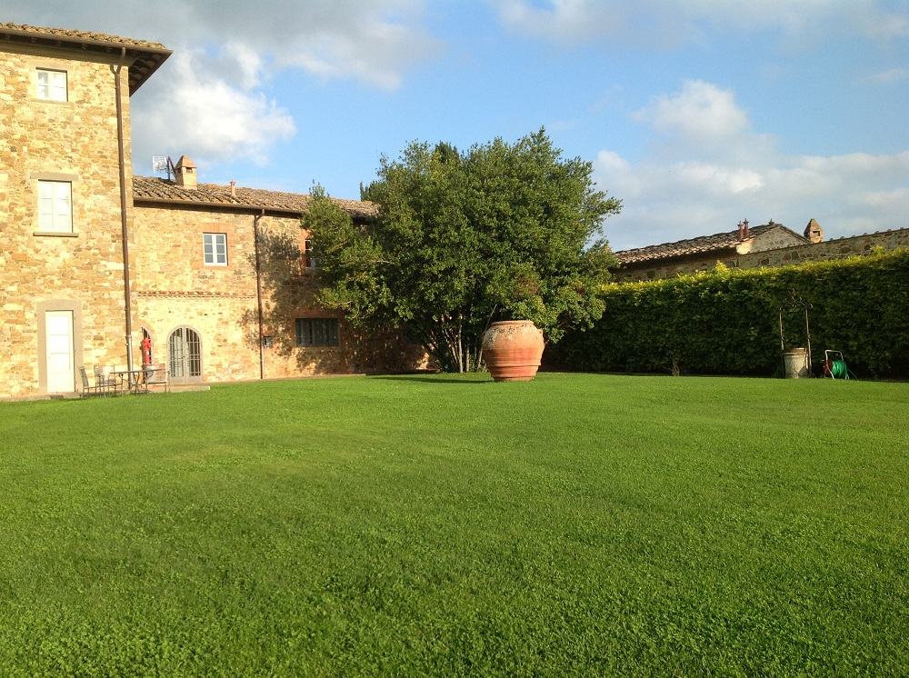 Part of the main building at Borgo Scopeto.