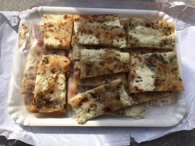 Cheese stuffed focaccia.