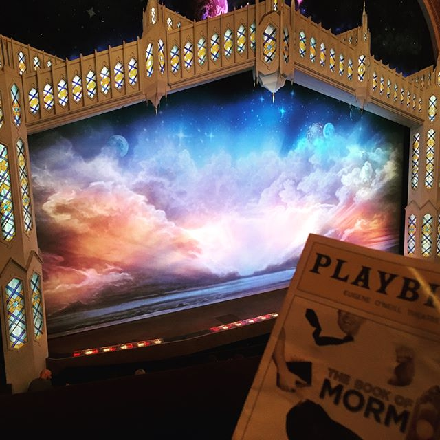 A night at the theater with #bae. @mattgrillzz #thatswhatallthecoolkidssayright #ilovematty  #bookofmormon #bway #broadwayforaday #nyc