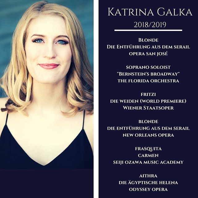 My 2018/2019 season announcement is finally here! The season ahead holds a number of house debuts and two international debuts- one in Europe and one in Asia! To say I can't wait is definitely an understatement! Visit my website for more details  www.katrinagalka.com 📸: @karlicadel 💄: @redkate20