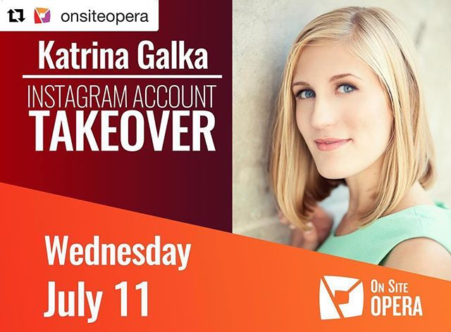 Follow my day on @onsiteopera's IG! We have a marathon rehearsal day starting with orchestra, then spacing at @caramoor's Sunken Garden, and then our final dress rehearsal! 🔸🔸🔸🔸 #Repost @onsiteopera with @get_repost ・・・ ★TAKEOVER ALERT★ Soprano Katrina Galka is taking over our Instagram tomorrow, July 11! • Katrina makes her OSO debut this Friday as Serpetta in the revival of the OSO/The Atlanta Opera production of Mozart's The Secret Gardener at Caramoor's Sunken Garden. • Be sure to follow along tomorrow for a behind the scenes look during our final dress rehearsal for #TheSecretGardenerOSO! 🌷 __________________________________ @katrinagalka @caramoor @theatlantaopera #opera #operaincoolspaces #garden
