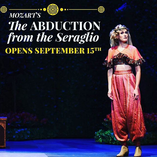 "Opening night of ""Abduction from the Seraglio"" with @operasanjose is happening right now! Everyone in Act 1 sounds amazing! Getting ready for Blonde's big Act 2!"