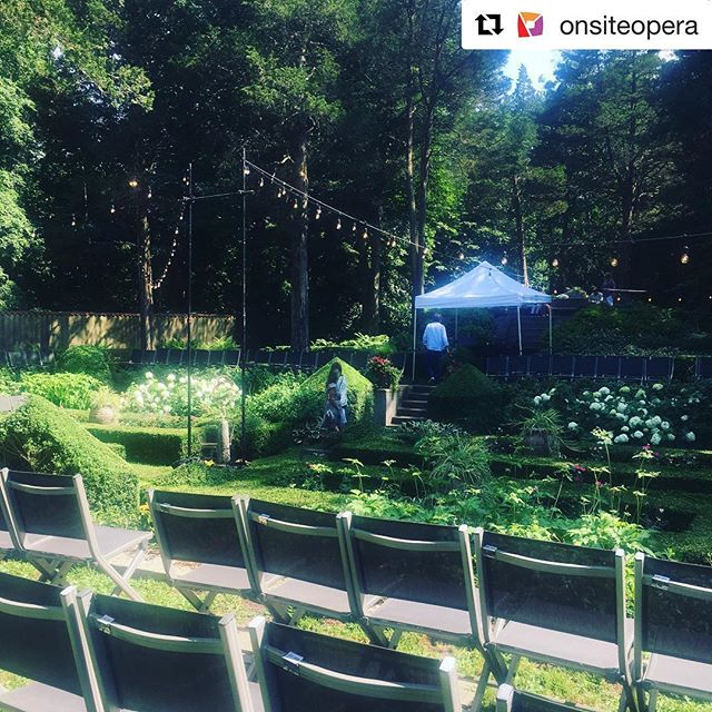 #Repost @onsiteopera with @get_repost ・・・ Our stage for Friday night! I can't imagine a more beautiful place to sing this Mozart.  #thesecretgardeneroso #serpetta #serpettatakesover @caramoor