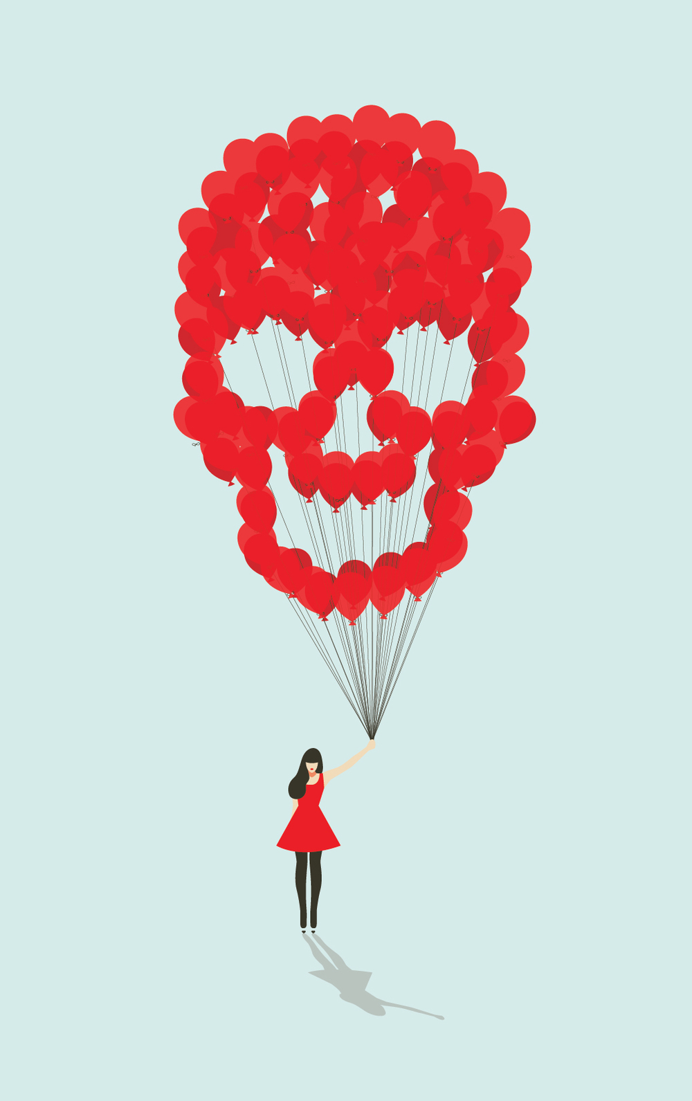 Red Balloons  Illustration