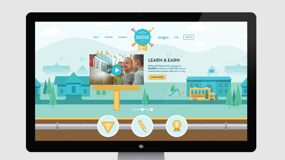 Phillips 66 Energy for Education  Illustration and Responsive Website