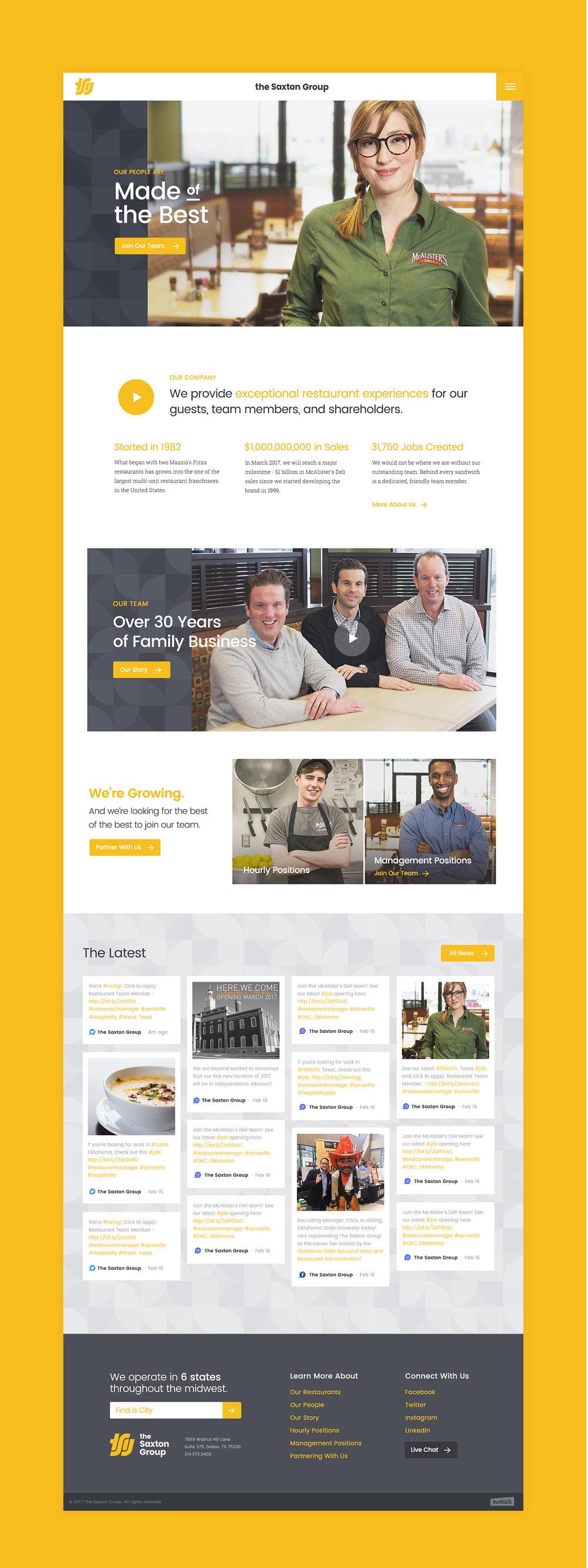 Saxton Website Homepage