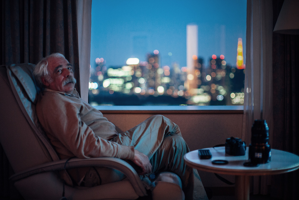This is my dad during a trip in Japan on our first day in Tokyo in our hotelroom on the 42nd floor. We bought a bottle of Suntory wiskey to complete the 'Lost in Translation' feeling. Looking forward to traveling with him again...