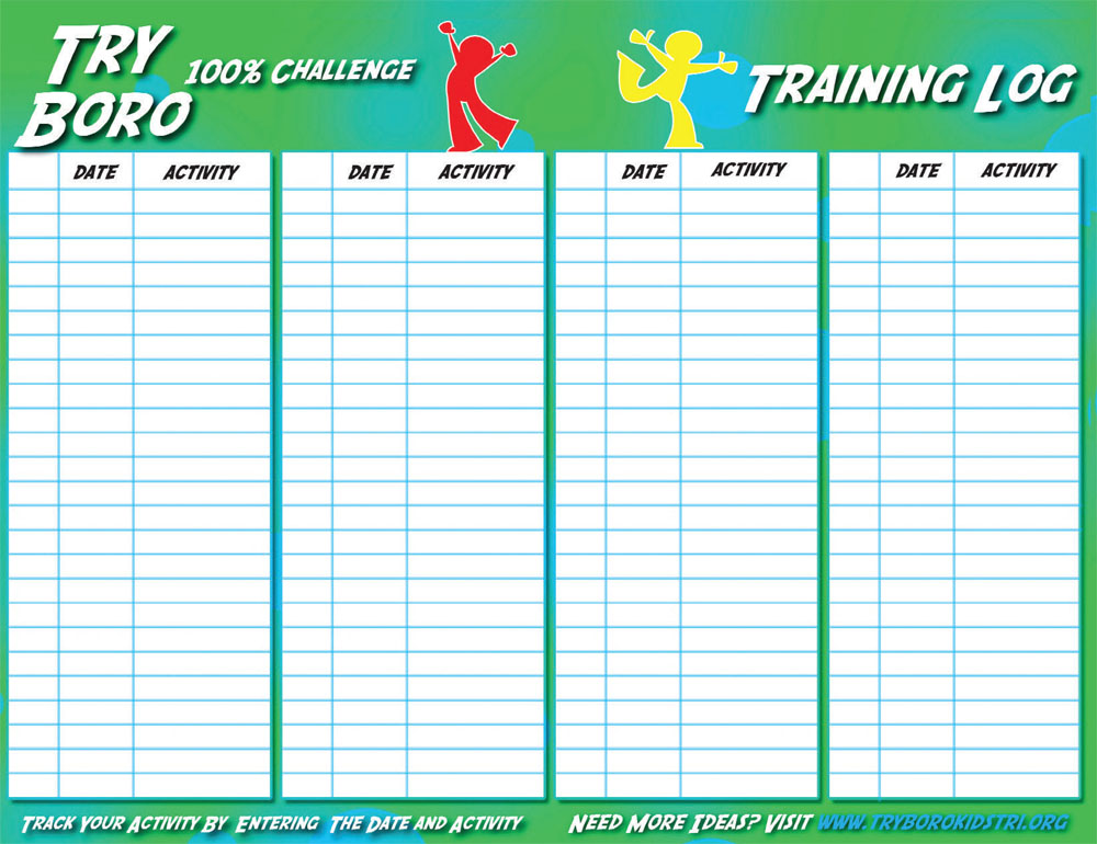 Click picture to download training log