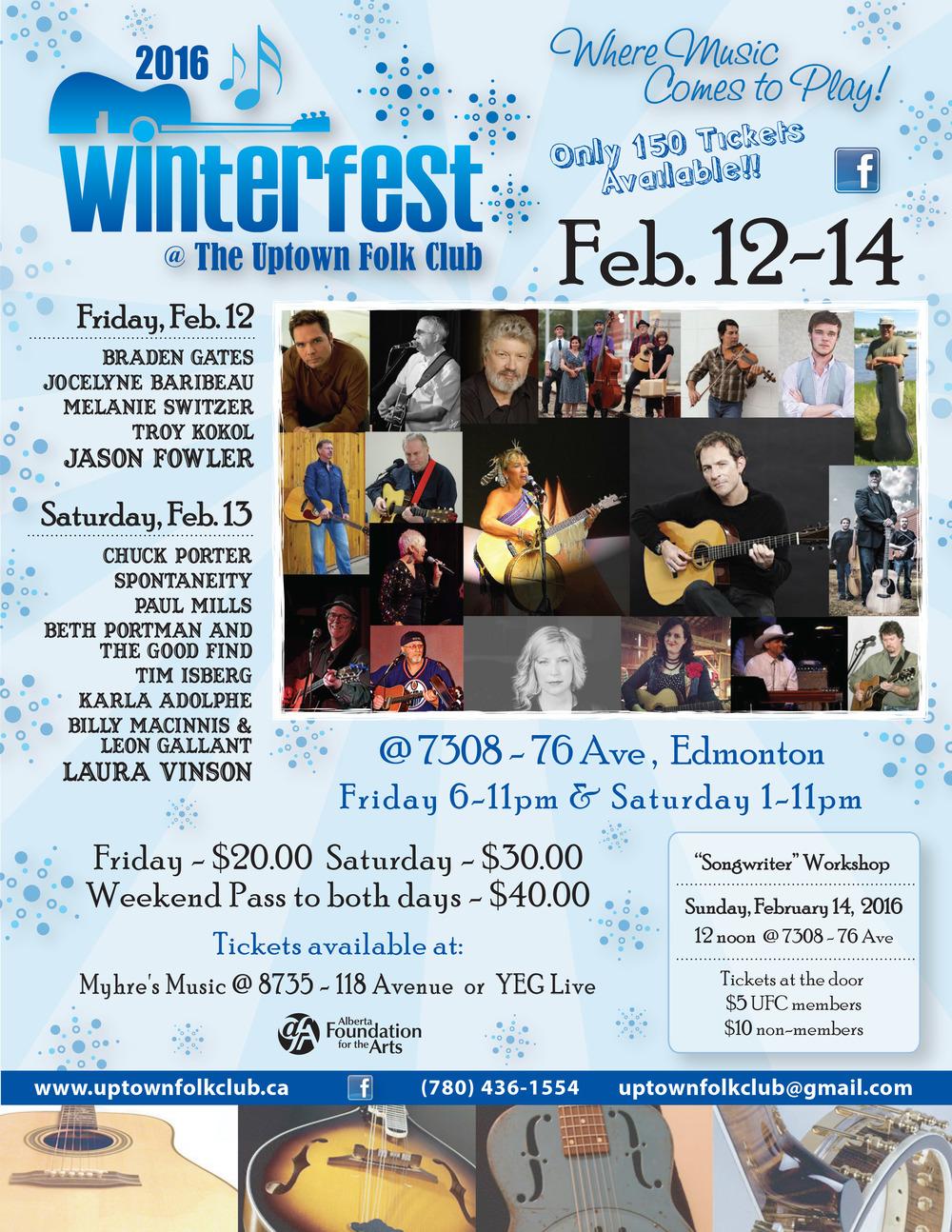 Uptown Folk Club Winterfest 2016