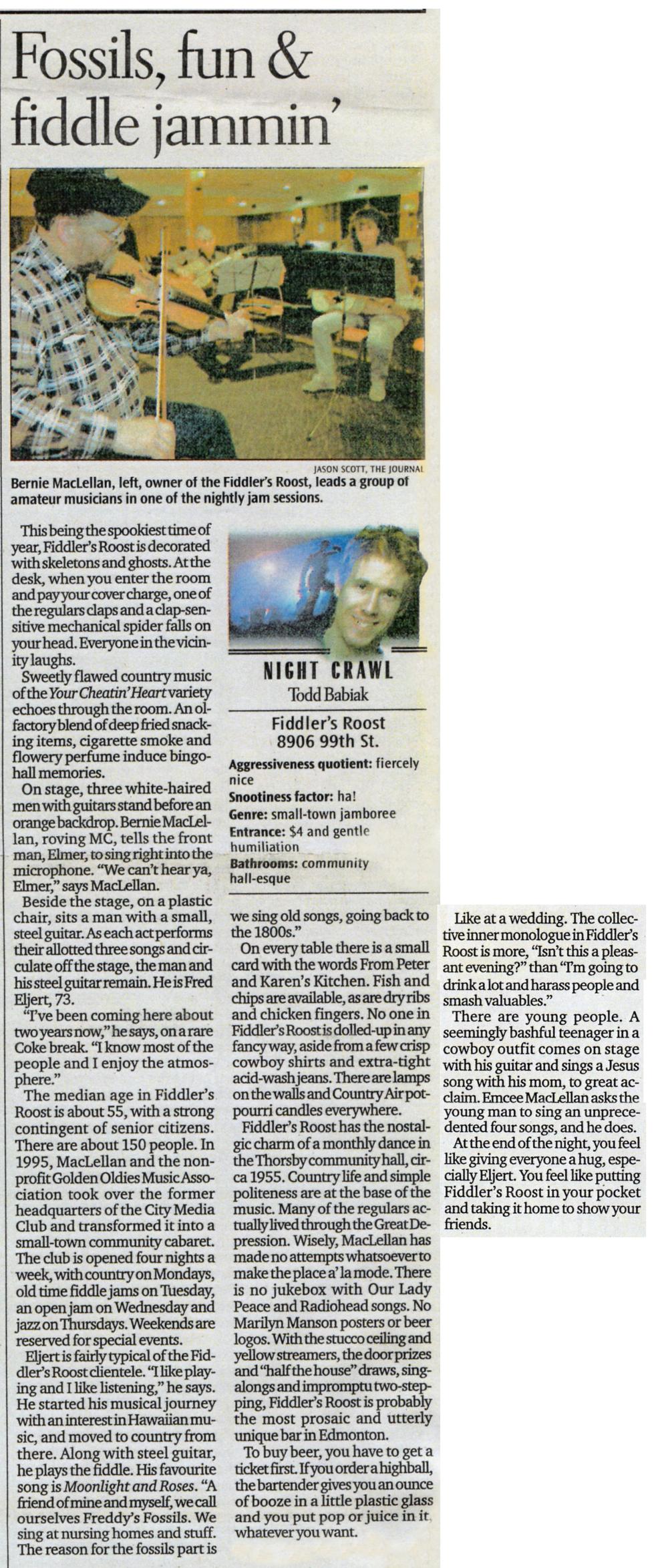 Edmonton Journal - October 25, 2001