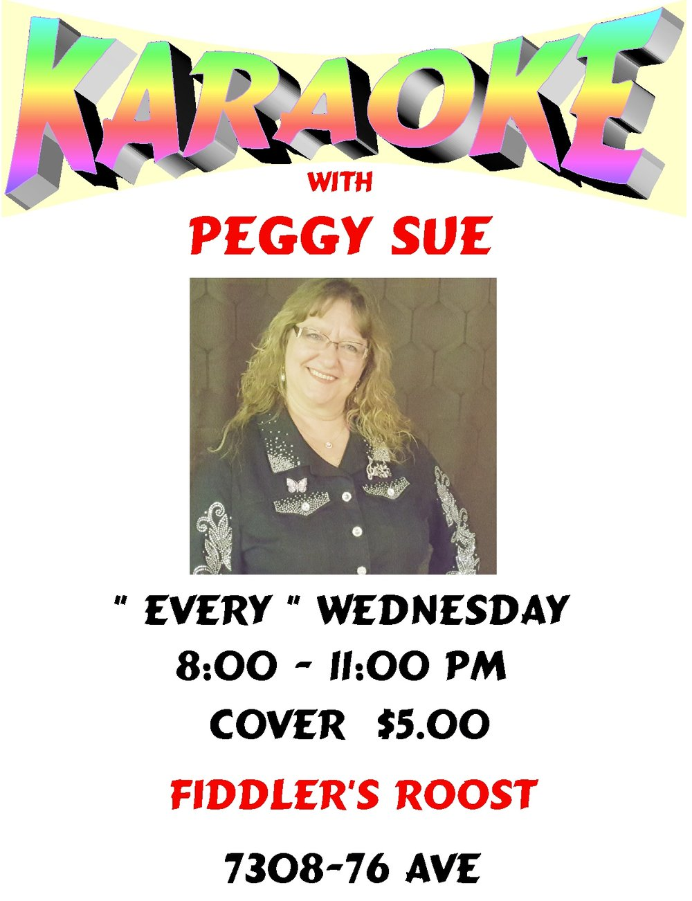 Karaoke Night with Peggy Sue