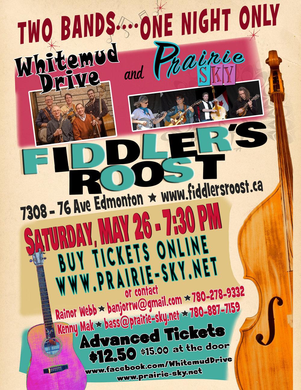 Fiddler's Roost - Prairie Sky & Whitemud Drive Concert