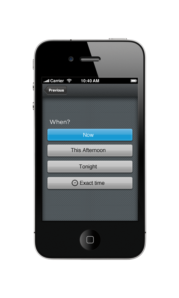 Future Perfect iPhone + Android App — Shaun Modi Design