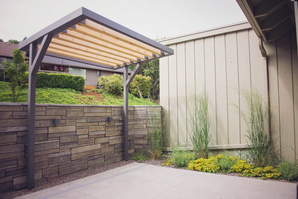 Cedar + Steel Patio Arbor