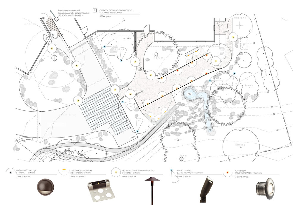 Lighting Layout Detail Design Schematic Example + Lighting Examples + Landscape Architecture Detail Design Southern Oregon