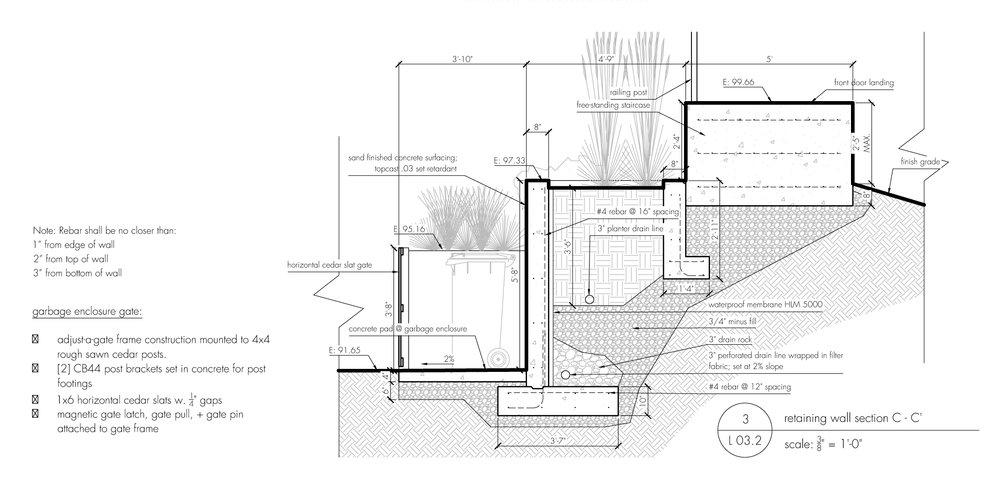 Hardscape Detail Design Concrete Retaining Wall Example Building Plan + Landscape Architecture Detail Design Hardscape