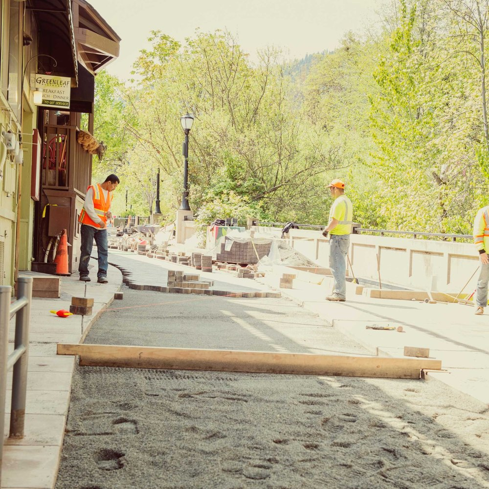 Permeable Paver Installation in Ashland by Regenesis Field Crew.jpg