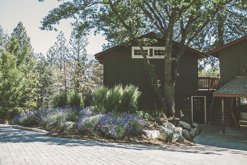 Permeable Ashlar Pattern Paver driveway + drought tolerant + pollinator friendly + deer-resistant garden +PNW Landscape