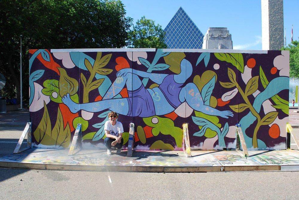 RECLINE // For Graffiti as Dialogue, iHuman/Works, Edmonton (photo: Lauren Crazybull)