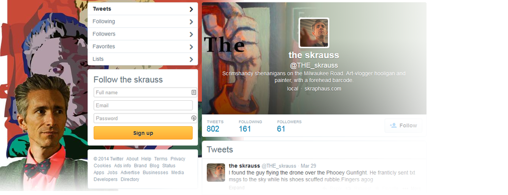 The Skrauss' Twitter feed