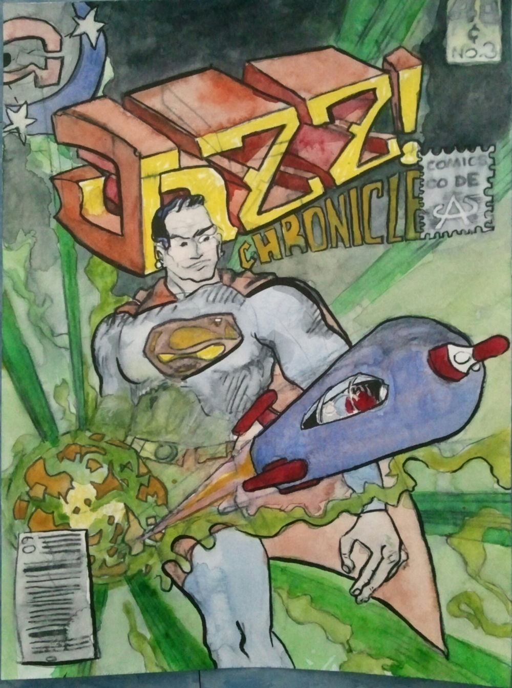 Jazz Chronicles: the cover is a swipe from WORLD of Krypton.  I've replaced Kent with  myself and the original logao and cover widgets with improvements.