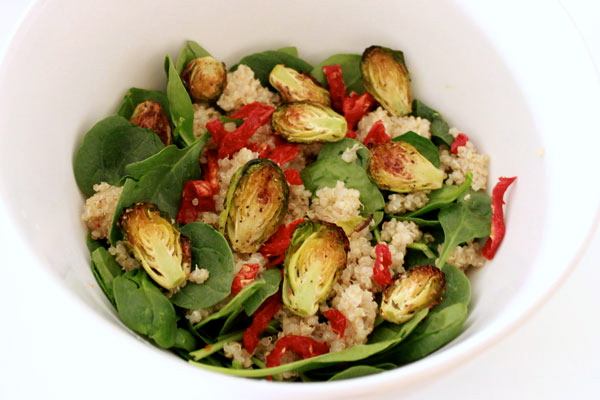 Roasted Brussels Sprouts & Quinoa Salad