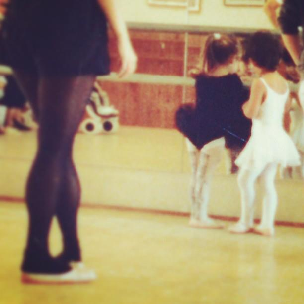 A picture from my first and last dance class as a child. Notice how I wasn't even dancing...