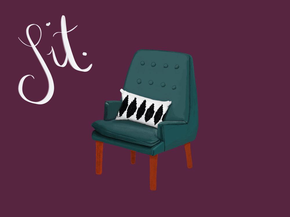 Sit. #ipadpro #applepencil #procreate