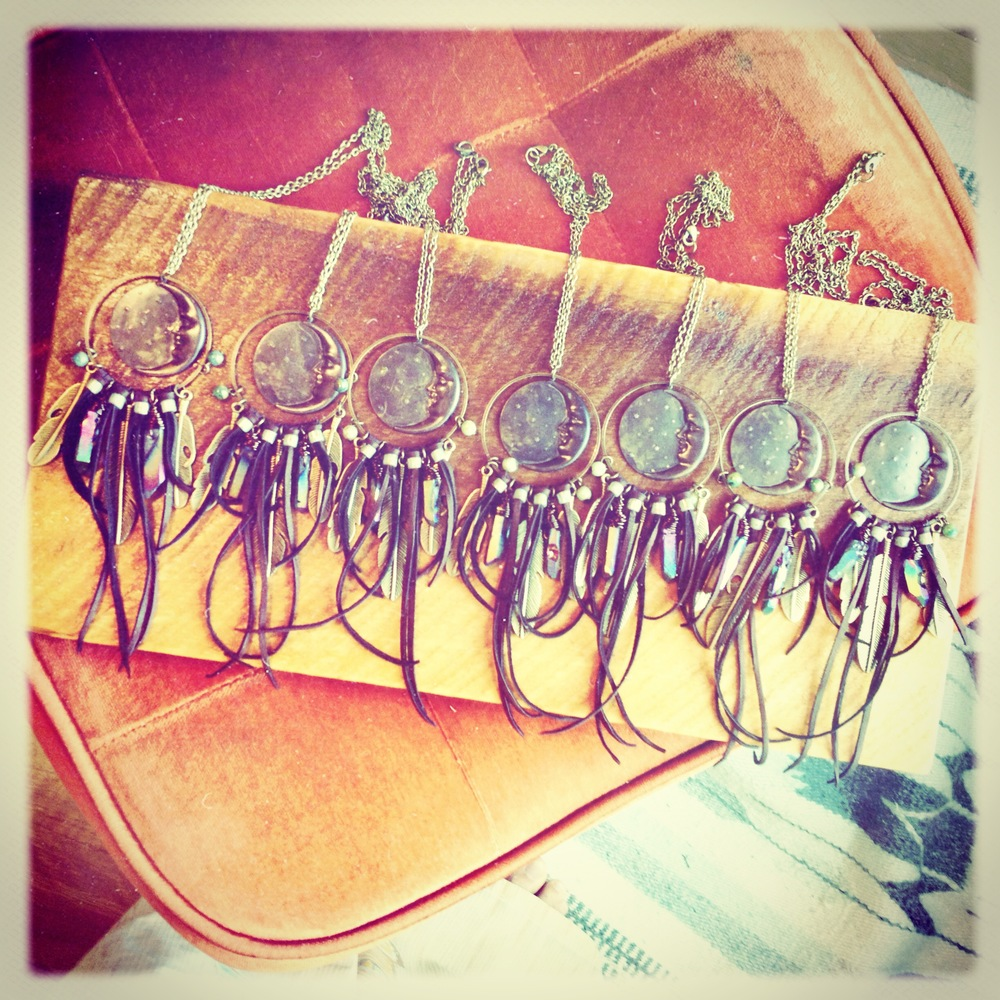 roots and feathers moon dreamcatcher necklaces.JPG