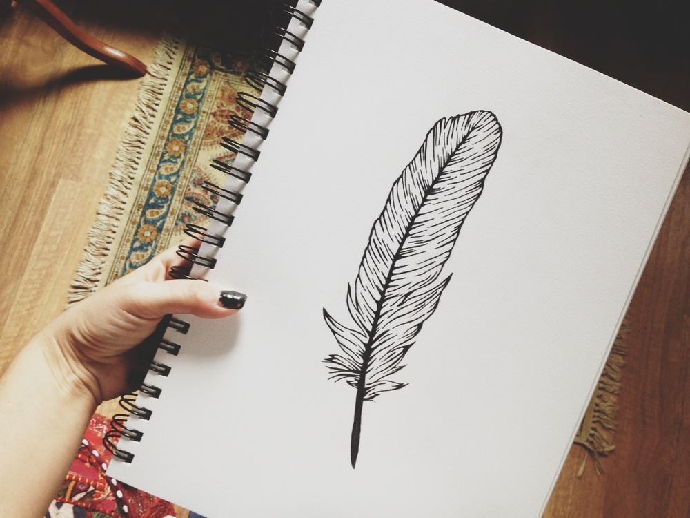 feather sketch for skyline fever.JPG