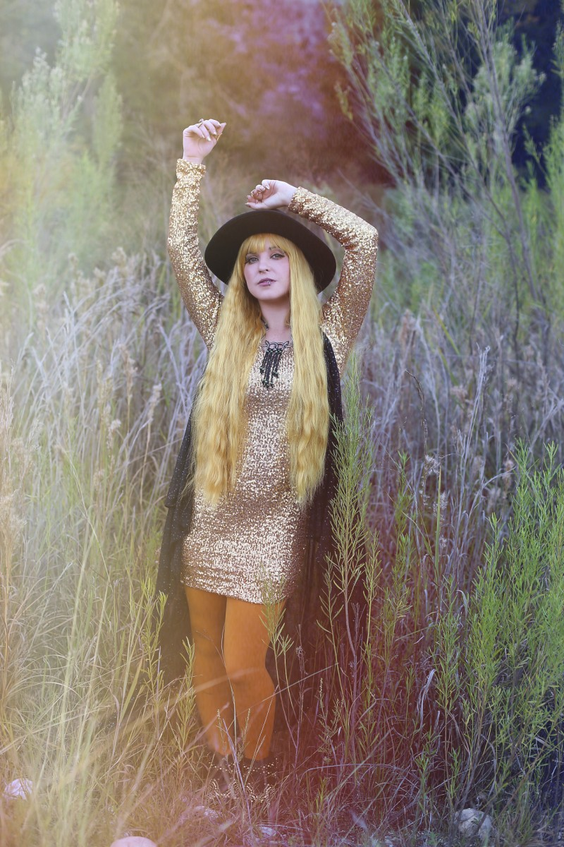 gold dust woman halloween outfit