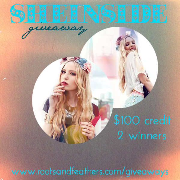 Sheinside Giveaway on Roots and Feathers