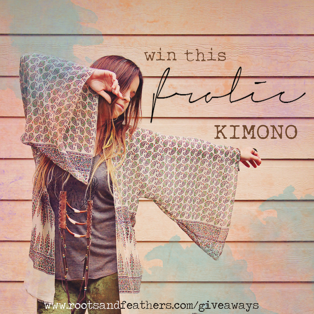 Frolic Kimono Giveaway on Roots & Feathers