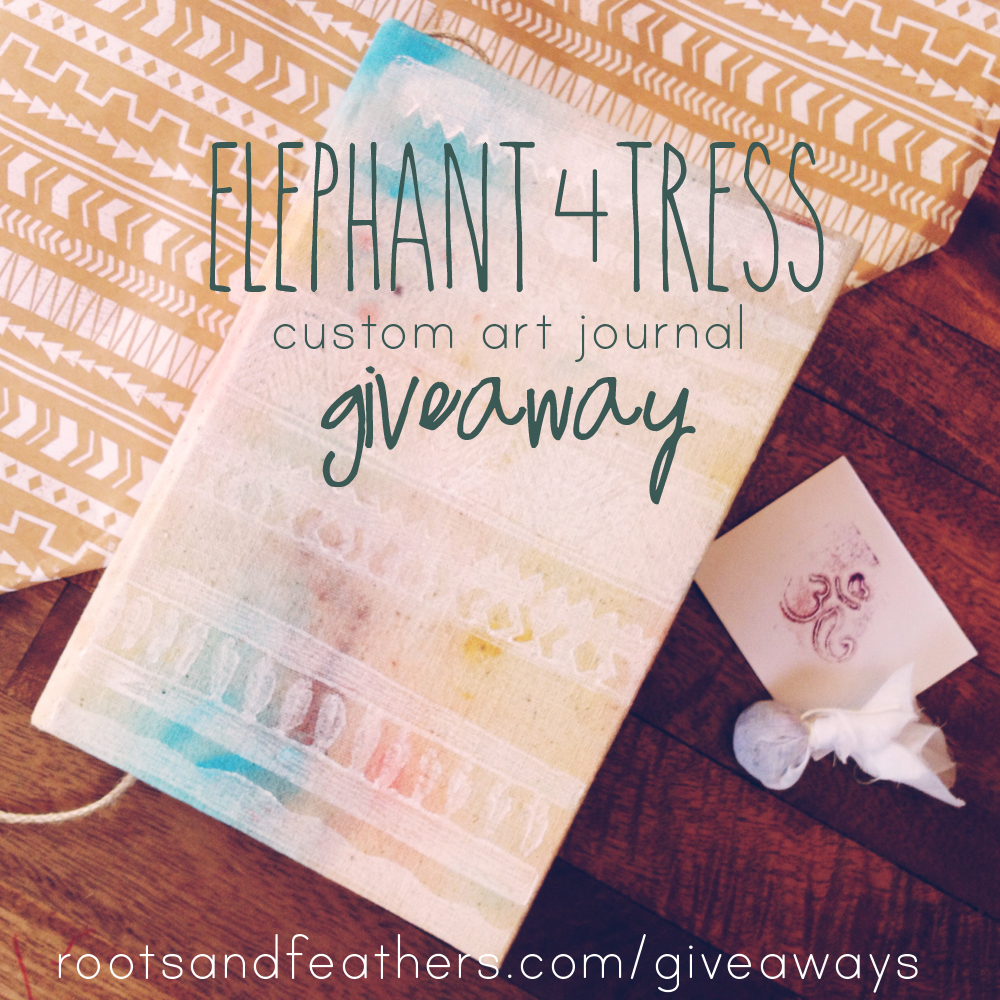 Elephant4tress journal giveaway via Roots & Feathers