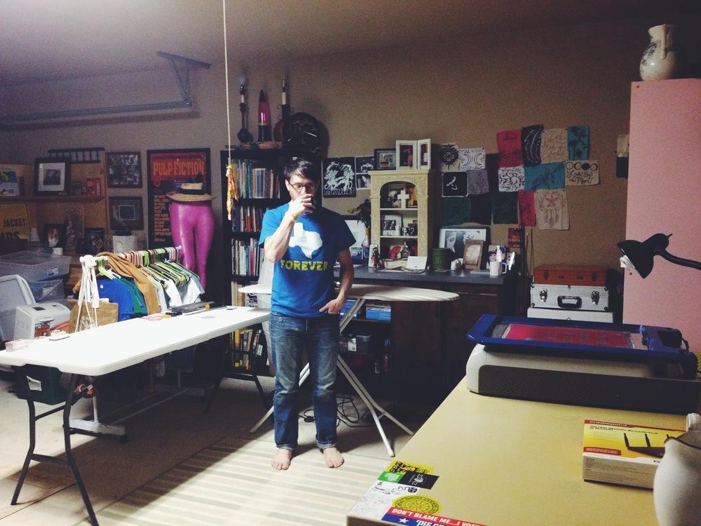 James in his Skyine Fever Studio